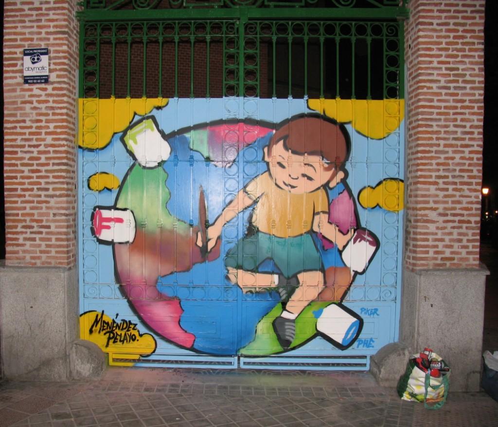 Niño pintando el mundo