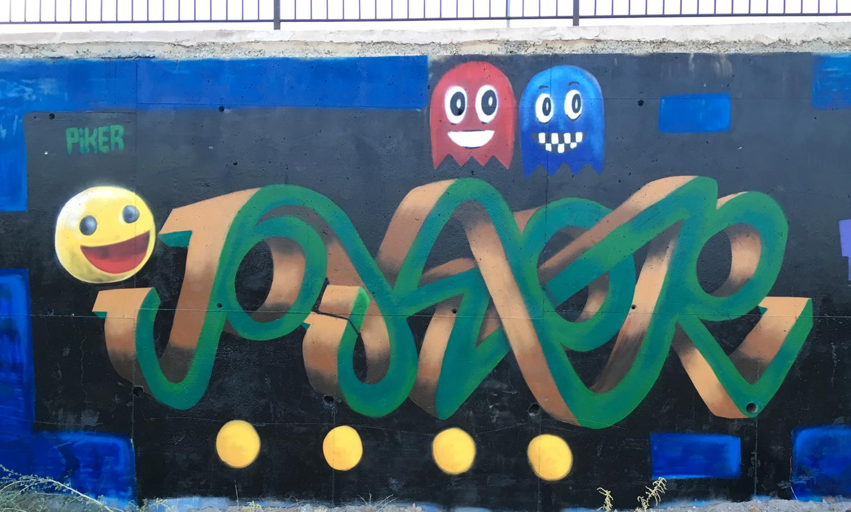 Graffiti pikerone Pacman