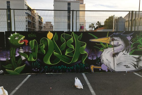 Graffiti Homenaje a David Aparicio Castrillo by Piker One Arts