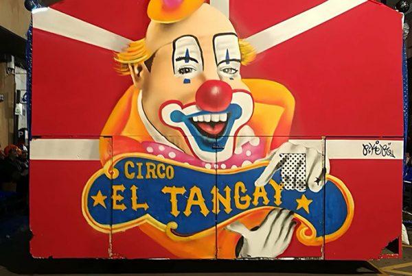 graffiti payaso circo peña el tangay