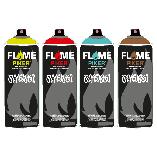 sticker spray flame by piker