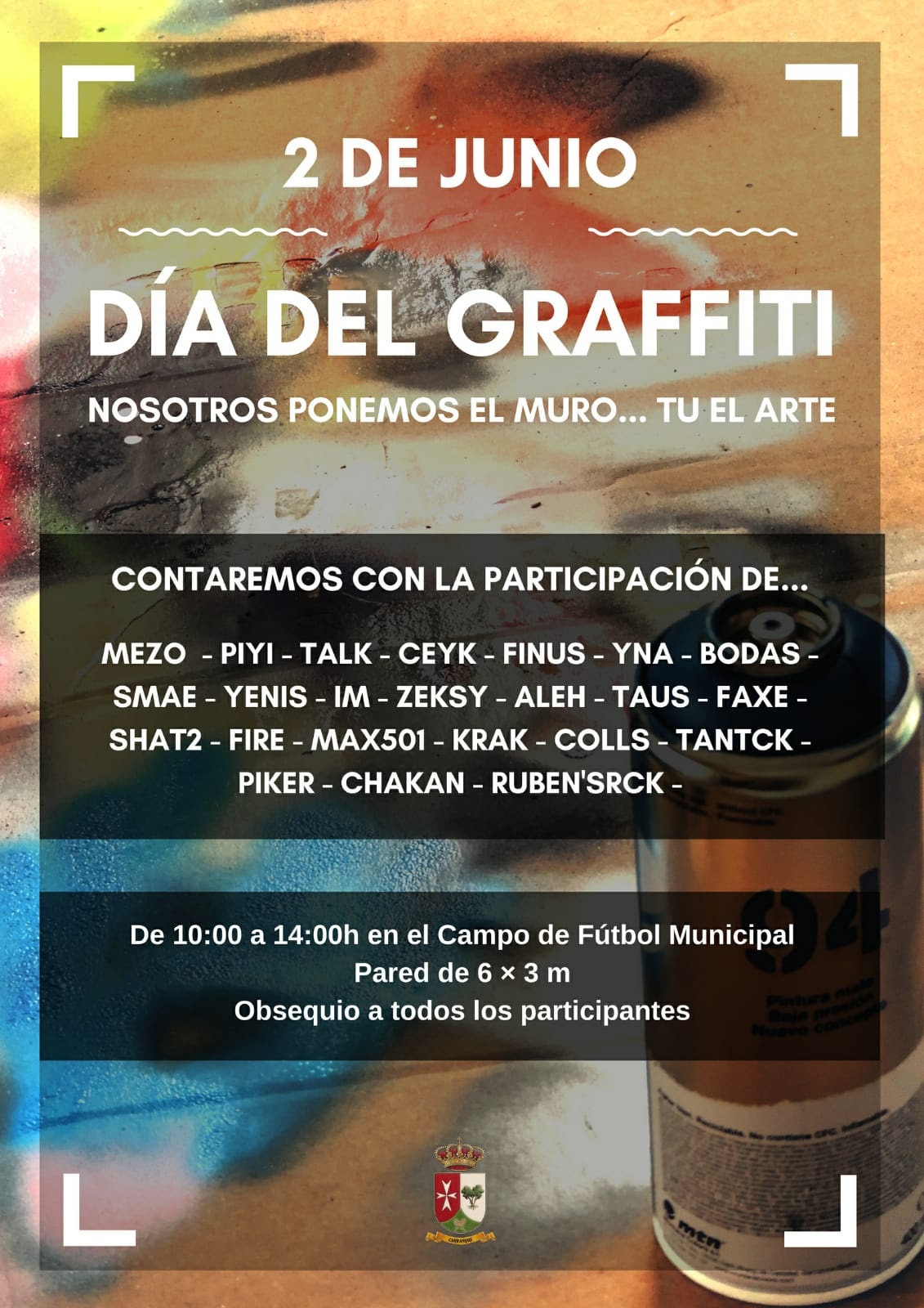 cartel exhibicion graffiti carranque