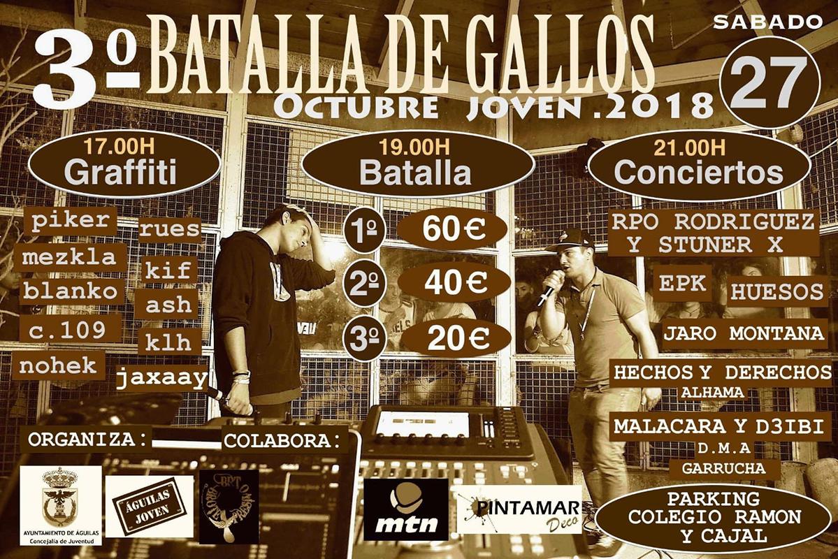 cartel octubre joven 2018 Aguilas Murcia