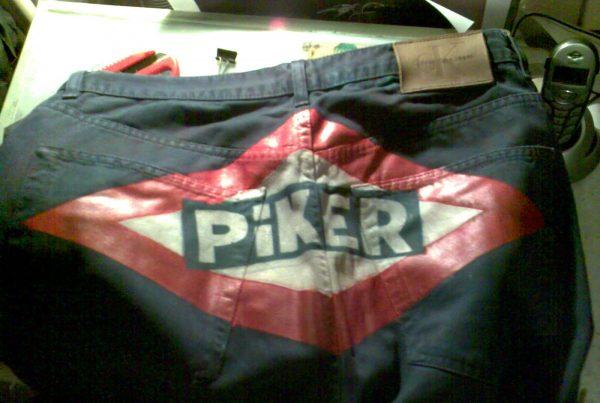 Pantalones Piker logo metro