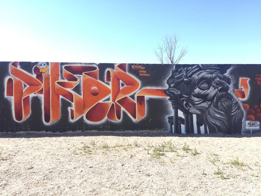 Piker & Rues graffiti birthday nohek