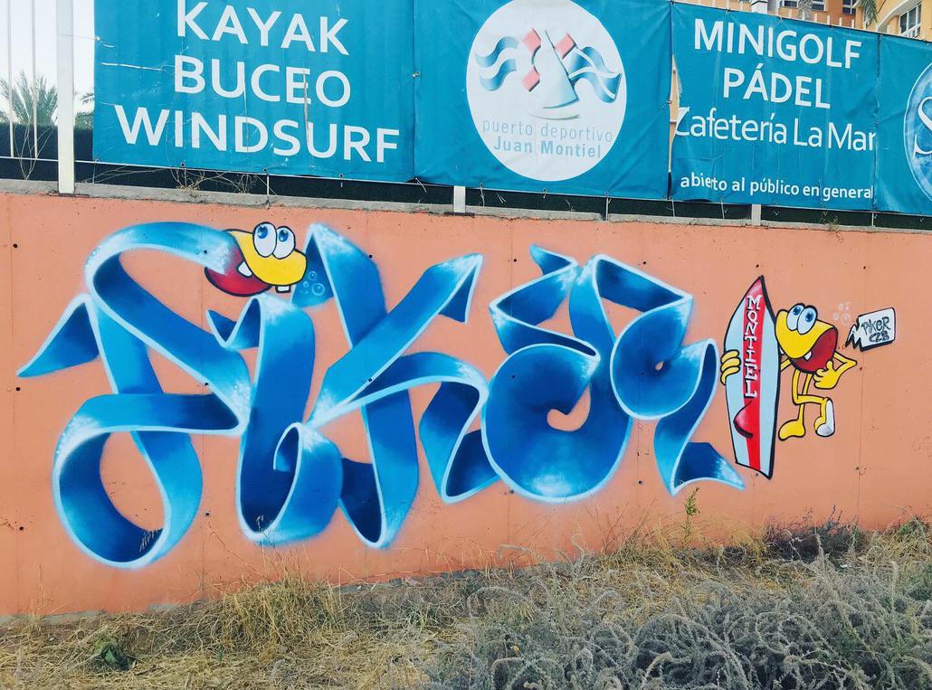 graffiti pikerone czb hotel juan montiel