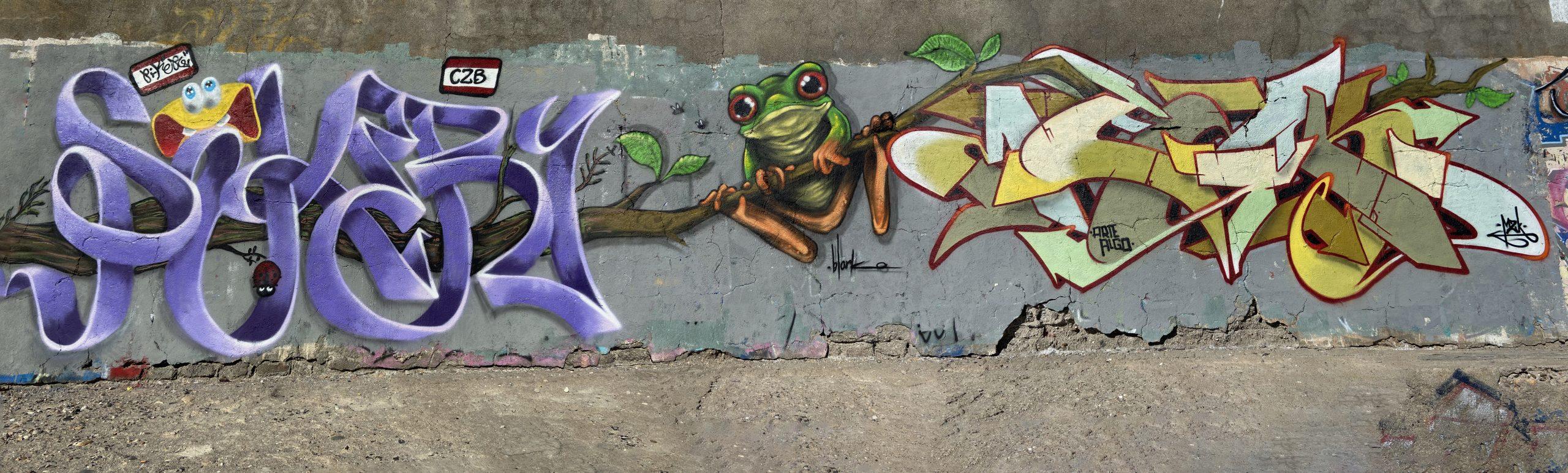 graffiti piker - blanko - mezkla