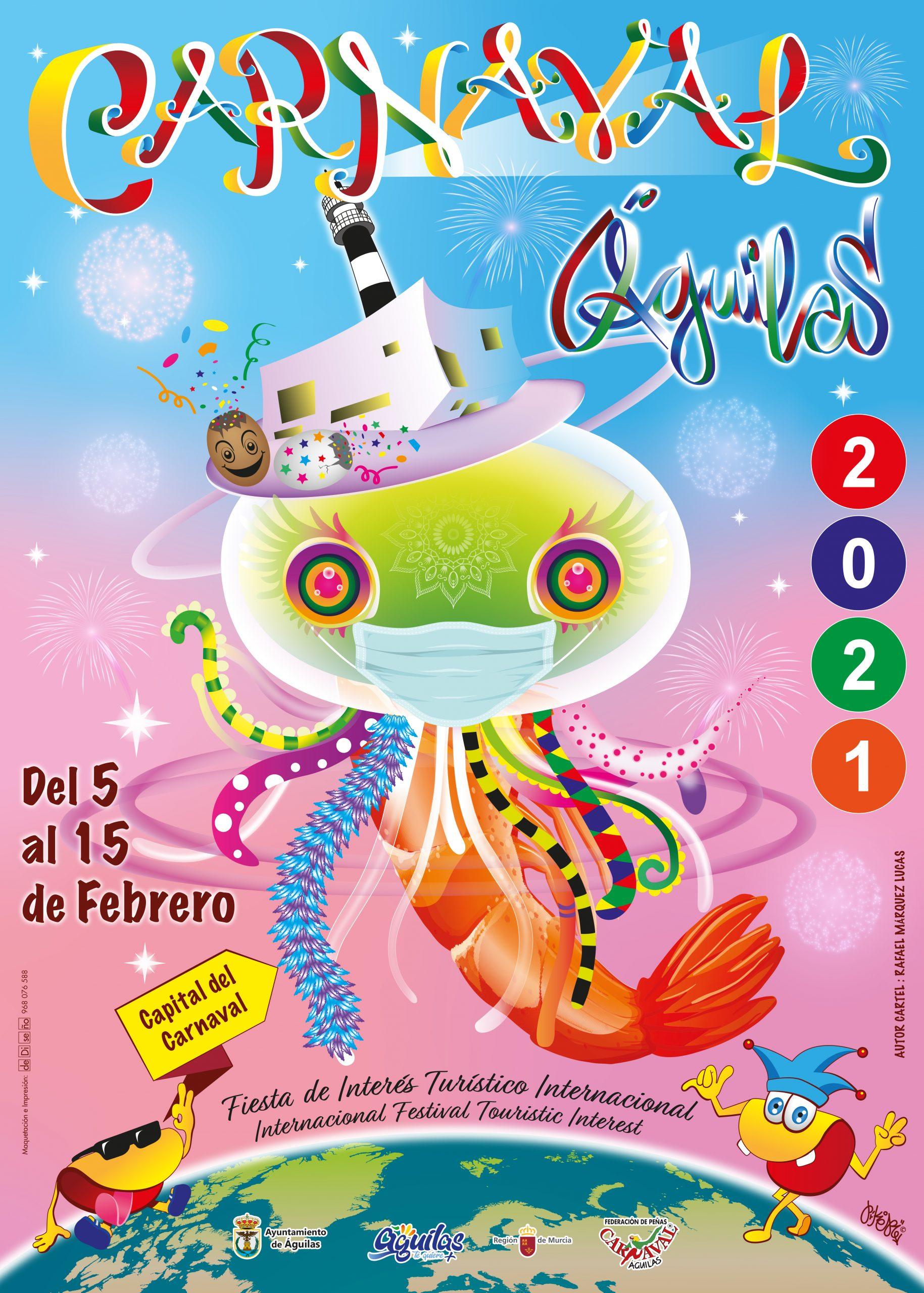 cartel carnaval AGUILAS 2021