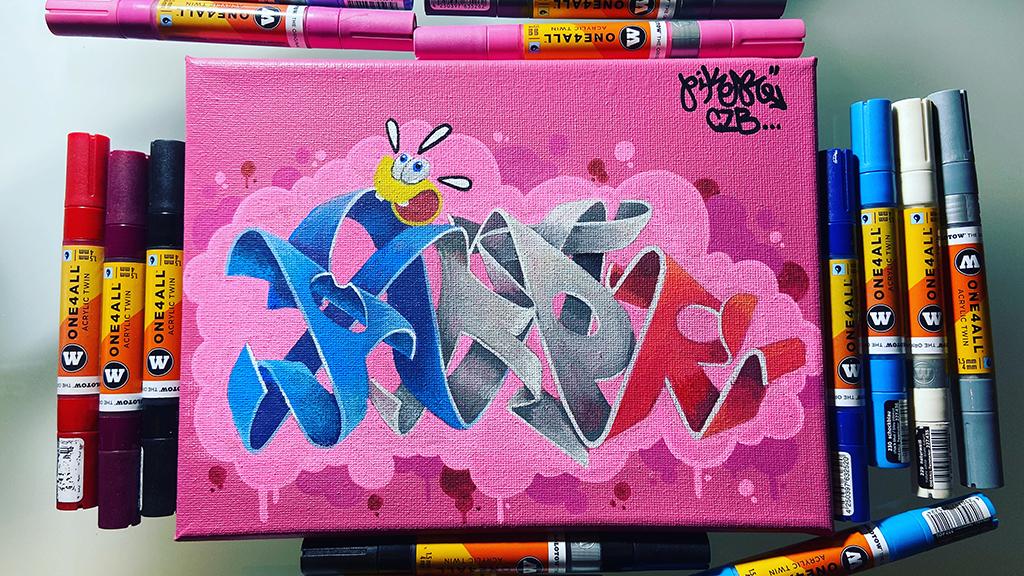 cuadro graffiti Piker