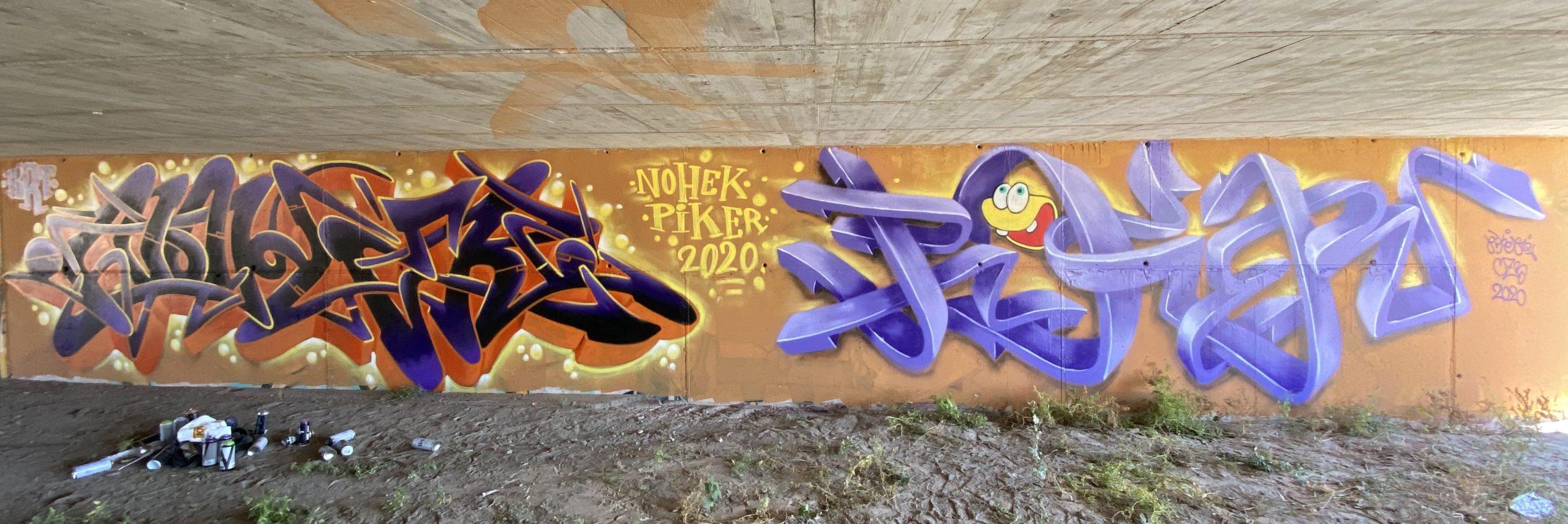 graffiti mural piker czb & nohek brt