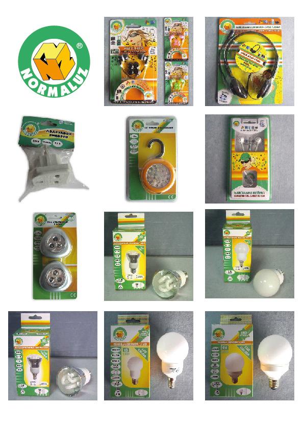 packaging iluminación bombillas