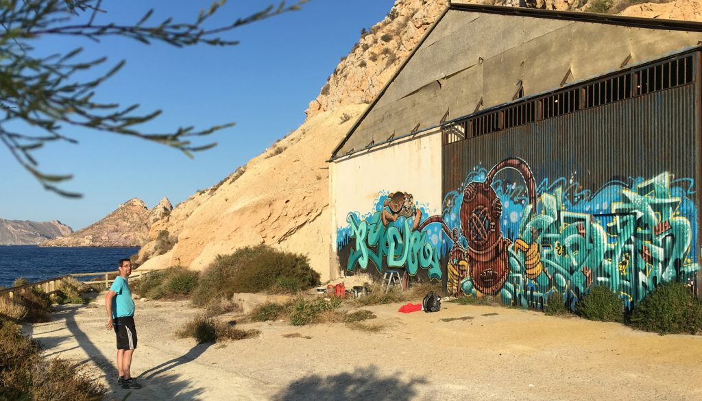 mural graffiti Murcia Aguilas